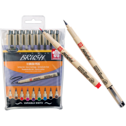 Sakura Pigma brush Pinselstifte 9er Set