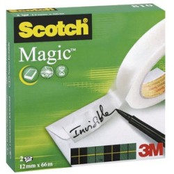 (0 11 EUR 1 m) Scotch Klebeband Magic Tape 810 12mm x 66m transparent