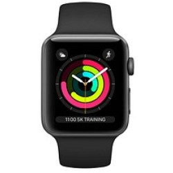 Apple Watch Series 3 38mm Aluminium Spacegrau Sportarmband Schwarz