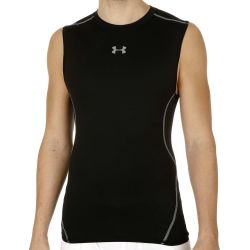 Under Armour Herren Kompressionsshirt UA HeatGear® Armour ärmellos Schwarz LG