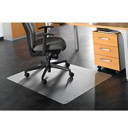 RS Office Products Bodenschutzmatte Ecogrip 120 x 130cm Form O für hartböden transparent Makrolon