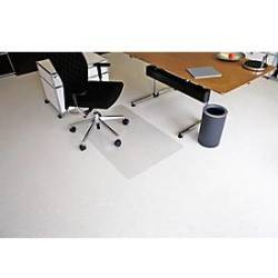 RS Office Products Bodenschutzmatte Ecoblue 75 x 120 cm Form O für Teppichböden transparent PET