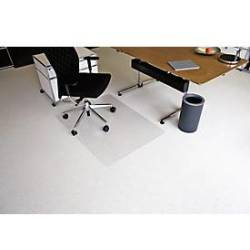 RS Office Products Bodenschutzmatte Ecoblue 90 x 120 cm Form O für Teppichböden transparent PET