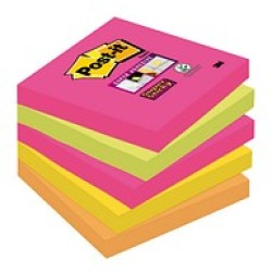 Post it Super Sticky Notes 654S pink 76x76mm 1x90 Bl