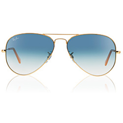 Ray Ban Aviator Metal Small 3025 001 3F 5514 Arista Gold
