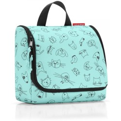 reisenthel cosmetics toiletbag Kulturbeutel cats and dogs mint