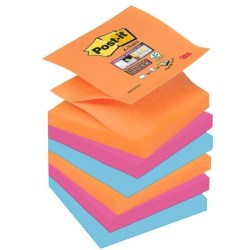 Post it® Z Notes Bangkok Haftnotizen extrastark R3306SE farbsortiert 6 Blöcke
