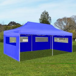 vidaXL Pop Up Partyzelt faltbar blau 3 x 6 m