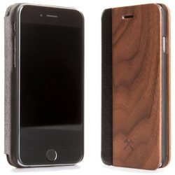 Woodcessories EcoFlip iPhone 7 8 Walnuss Echtholz (FSC)