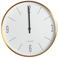 House Doctor Wall Clock Couture Gold