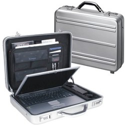 Alumaxx Notebook Attachékoffer Mercato silber bis 17 Zoll