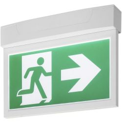SLV P Light Emergency Exit Sign Big Ceiling wall Weiß