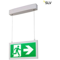 SLV P Light Emergency Series Exit Sign Big Pendant Weiß