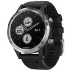 Garmin Fenix 5 Plus Silver nero