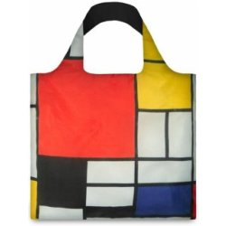 LOQI Bag Mondrian Composition with Red Yellow Blue and Black