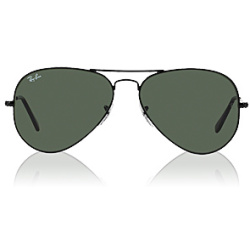 Ray Ban Aviator Large Metal L2823 58 black crystal green