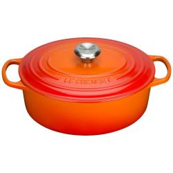 Le Creuset Bräter Signature Oval Gusseisen Ofenrot 29cm