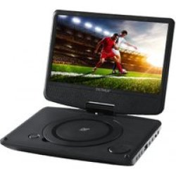 Denver DVD Player MT983NB 23 cm (9 Zoll) USB schwarz portable