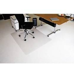 RS Office Products Bodenschutzmatte Ecoblue 120 x 150 cm Form O für Teppichböden transparent PET
