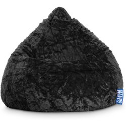 SITTING POINT Beanbag Fluffy XL Sitzsack schwarz