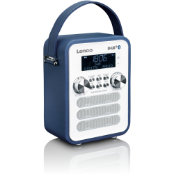 Lenco PDR 050 portable DAB radio with Bluetooth blue