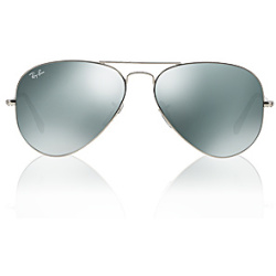 Ray Ban Aviator Large Metal W3277 58 silver crystal crystal grey mirror