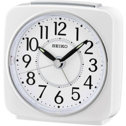 Seiko Beep Alarm Clock with Snooze (White)