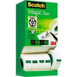 (0 05 EUR 1 m) Scotch Klebeband Magic Tape 810 Tower Pac 19mm x 33m transparent 14 Rollen