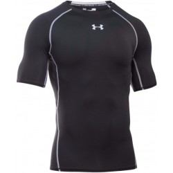 Under Armour Herren UA HeatGear® Armour Kompressions Shirt kurzärmlig Schwarz MD