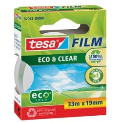 (0 06 EUR 1 m) Tesa Klebeband Eco Clear 19mm x 33m klar transparent