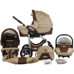 bergsteiger Kombi Kinderwagen »Capri coffee brown 3in1« (10 tlg)