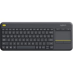 Logitech K400 Plus Wireless Touch Keyboard Layout Niederlande QWERTY dunkel grau