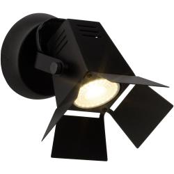 BRILLIANT MOVIE LED Wandstrahler 17 cm Metall Schwarz matt