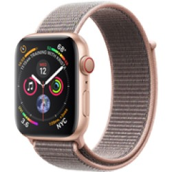 Apple Watch S4 Alu 44mm Cellular Gold (Sport Loop Sandrosa) (MTVX2FD A)