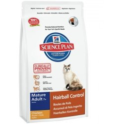 Hill's Pet Nutrition Science Plan Feline Mature Adult 7 Haarballen Kontrolle Mit Huhn 1 5kg