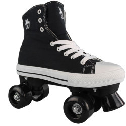Rookie Rollerskates Canvas High (Black)