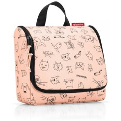 REISENTHEL® Kulturbeutel »toiletbag kids cats dogs rose«
